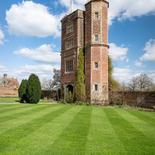 """Sissinghurst Castle Garden Tower"" stock image"