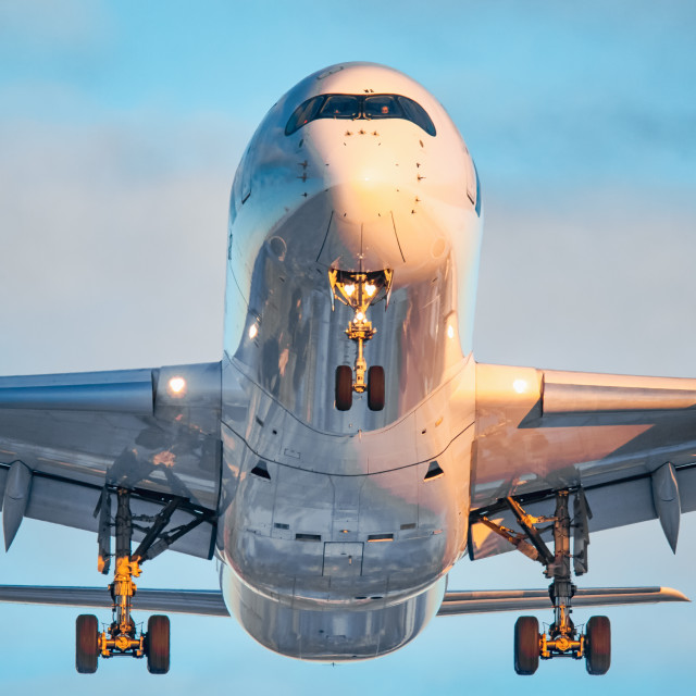 """""""Head on with Airbus"""" stock image"""