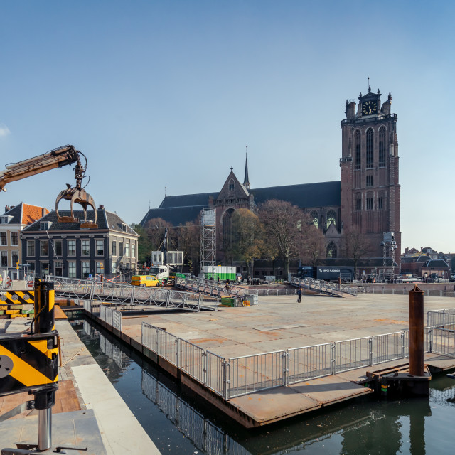 """""""Dordrecht cathedral in The Passion"""" stock image"""