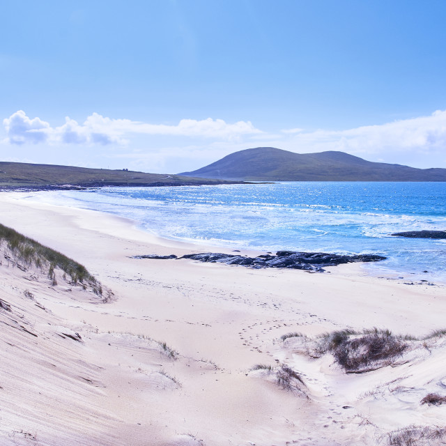 """Landscape, Scotland, Outer Hebrides, South Harris, Traigh Mhor beach"" stock image"
