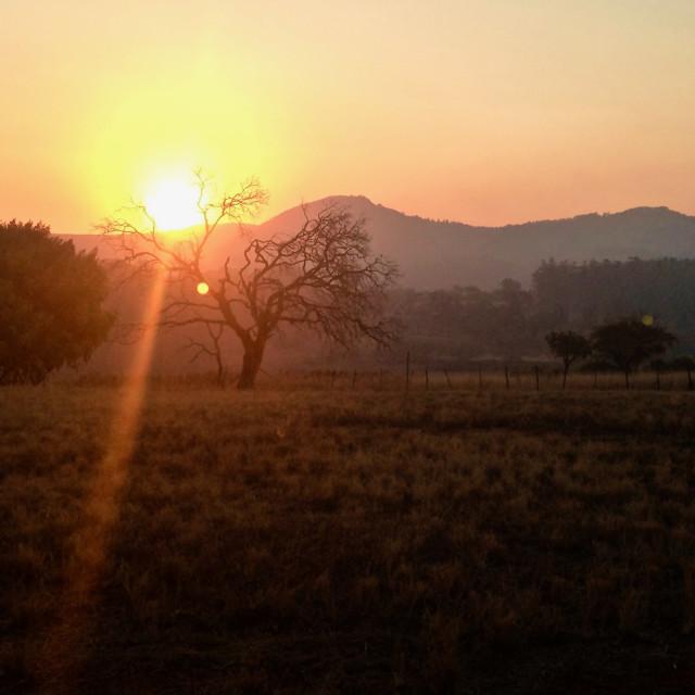 """Sunset in eSwatini"" stock image"