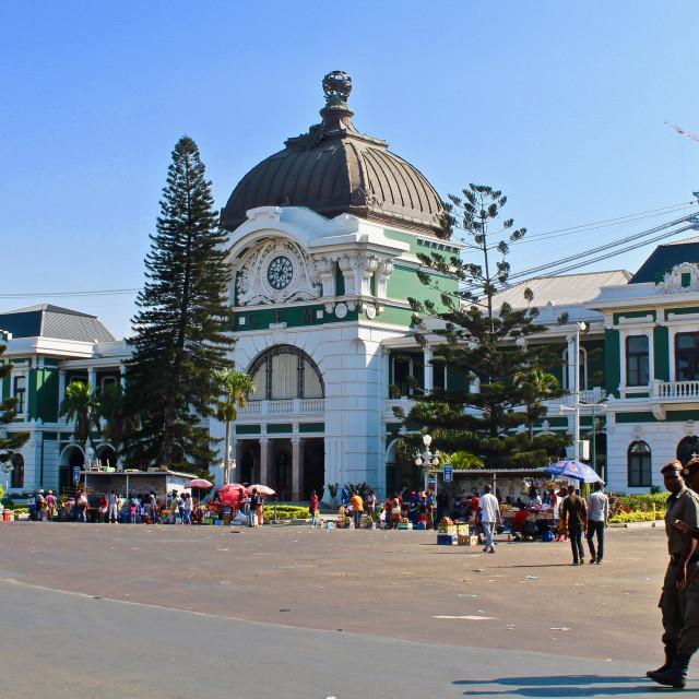 """Maputo Railway Station"" stock image"