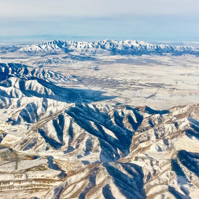 """Salt Lake City Mountains"" stock image"