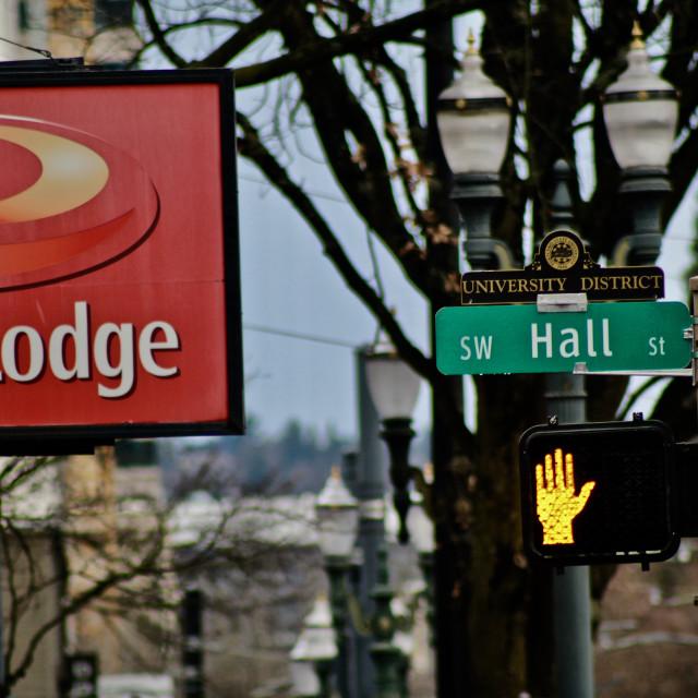 """Portland Street Signs"" stock image"