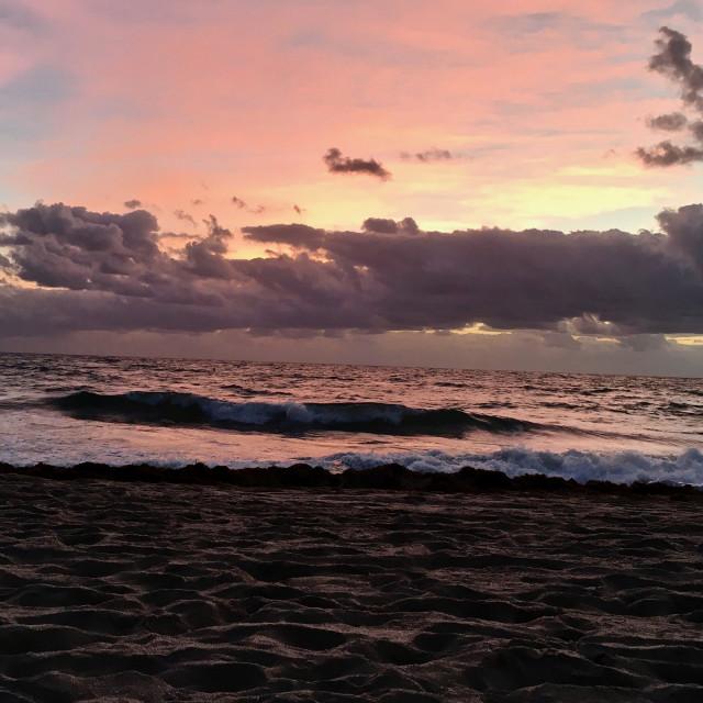 """Ocean sunrise in Florida"" stock image"