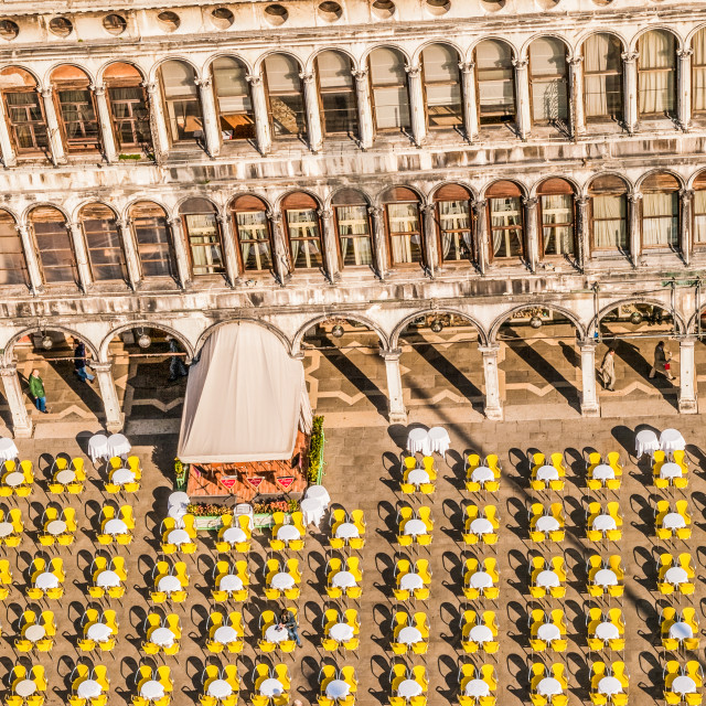 """""""Aerial View of Venice Cafe"""" stock image"""