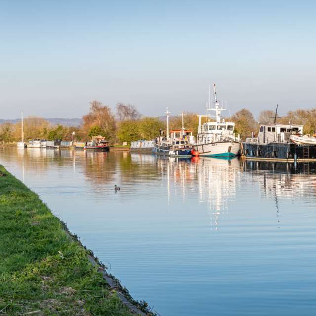 """The Gloucester & Sharpness Canal, Gloucestershire"" stock image"