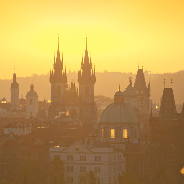 """""""Prague - Spires of the Old Town"""" stock image"""