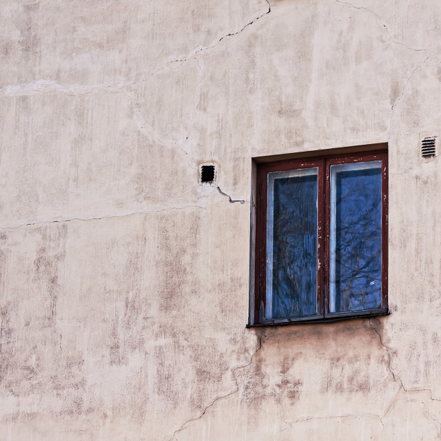"""""""Wall With A Window"""" stock image"""