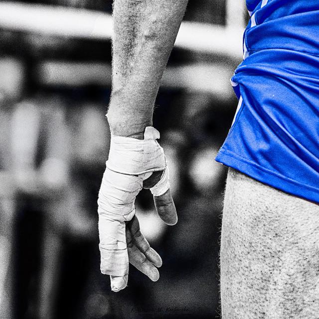 """""""Blue bandage"""" stock image"""