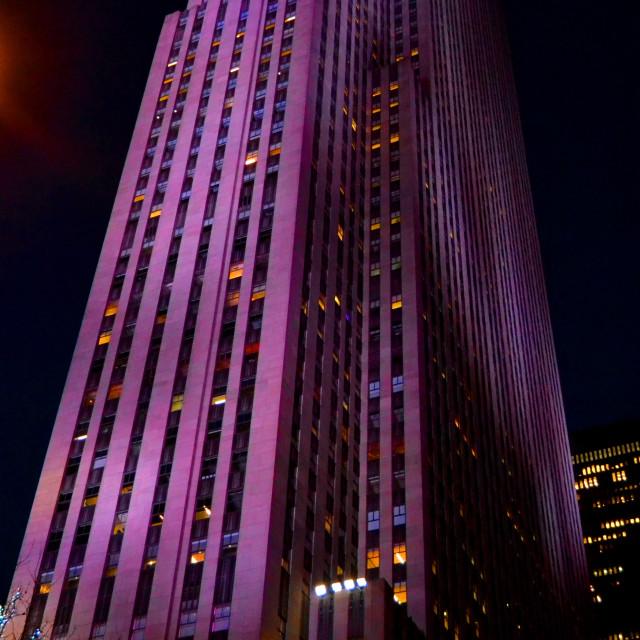 """A Walk Through NYC at Night"" stock image"