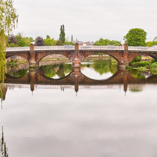 """The Buccleuch street bridge built in 1793 by architect Thomas Boyd, and widened 1893. A 4-span bridge, 245 ft (74.7m) long, built of dressed stone with segmental arches and rounded cutwaters which are carried up to support bracketted iron footpaths"" stock image"