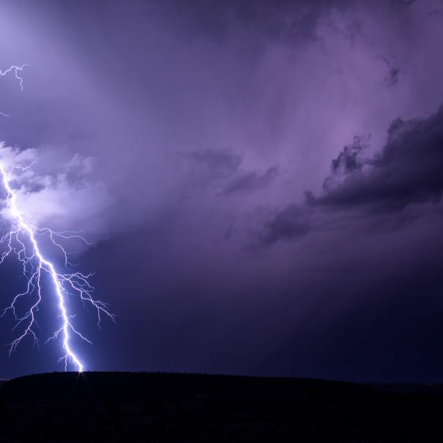 """Lightning bolt storm background"" stock image"