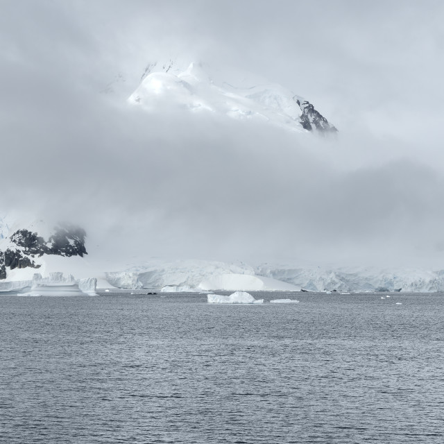 """Heavy Clouds Over Paradise Harbor, Antarctica"" stock image"