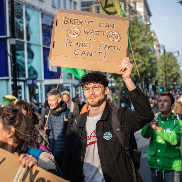 """Extinction Rebellion - Oxford Street"" stock image"