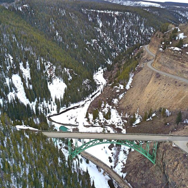 """Red Cliff Bridge, Colorado"" stock image"