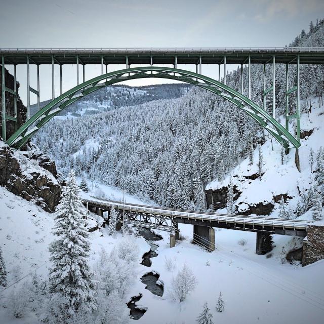 """A Bridge Within A Bridge"" stock image"