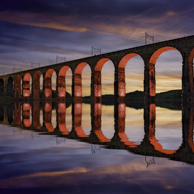 """The Royal Border Bridge, Berwick-upon-Tweed"" stock image"