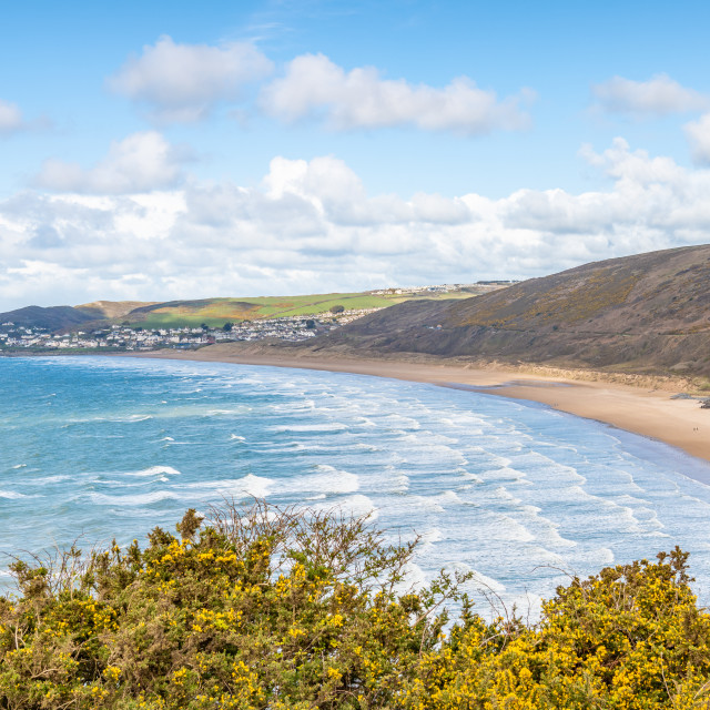 """Putsborough & Woolacombe Beach"" stock image"
