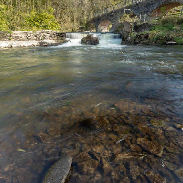 """River Torridge weir"" stock image"