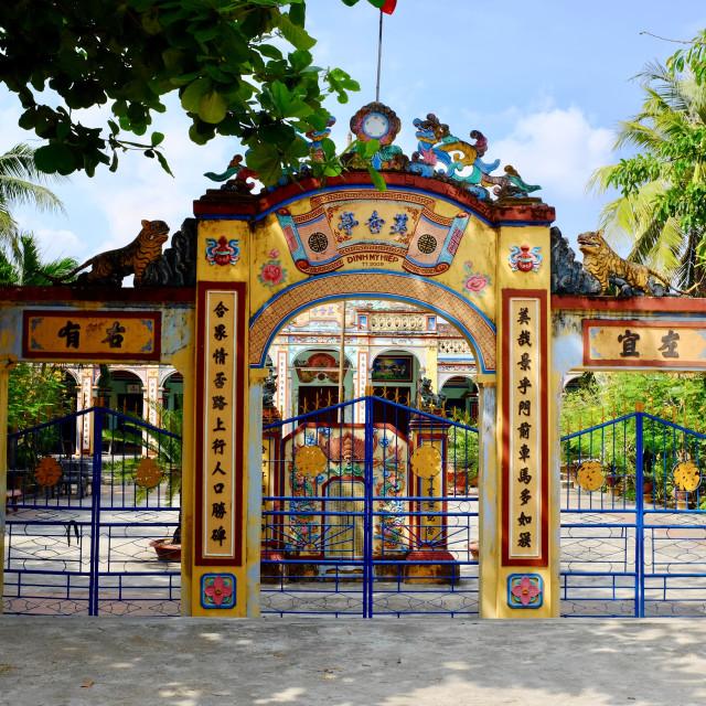 """Ancestor's temple in Vietnam"" stock image"