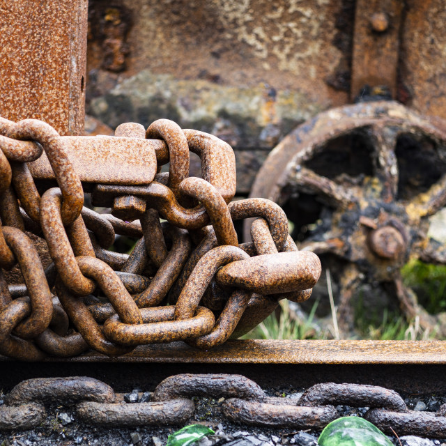 """Rusty Chain"" stock image"