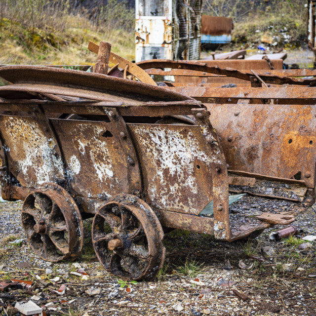 """Rusty Mine Train"" stock image"
