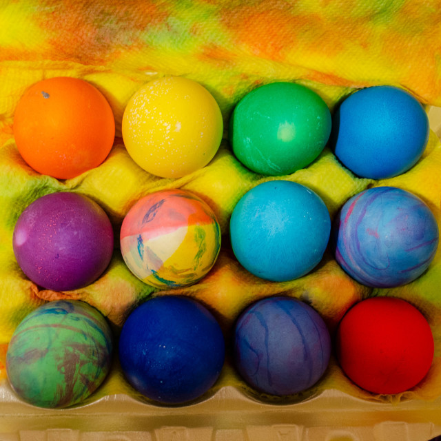 """Easter eggs"" stock image"