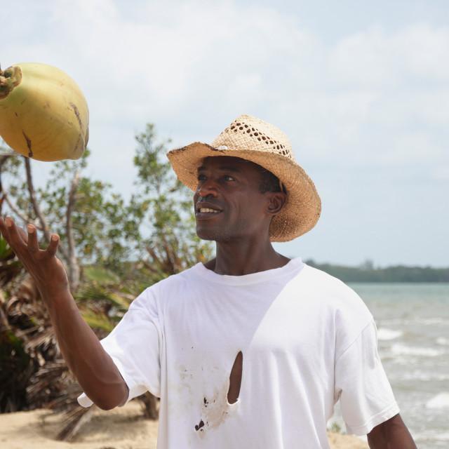 """Coconut man"" stock image"