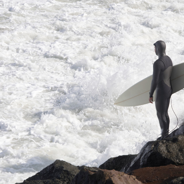 """""""Surfer at the ocean"""" stock image"""