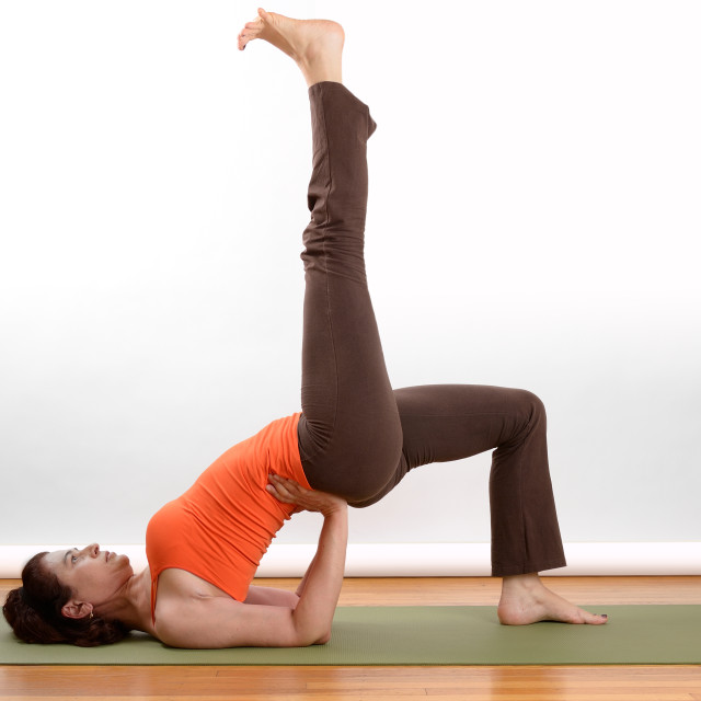 """Yoga floor position"" stock image"
