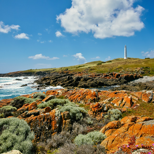 """""""King Island in Bass Strait"""" stock image"""