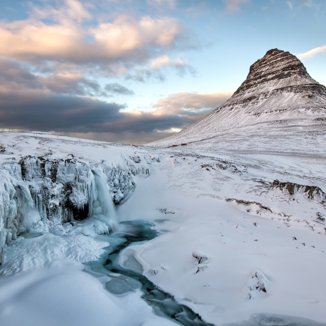 """Winter at Kirkjufell"" stock image"