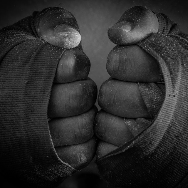 """Boxer hands"" stock image"