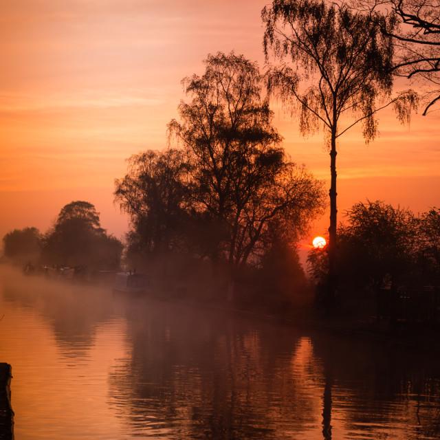 """""""Sunrise of canal"""" stock image"""