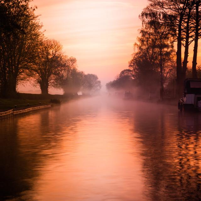"""""""Canal Sunrise"""" stock image"""