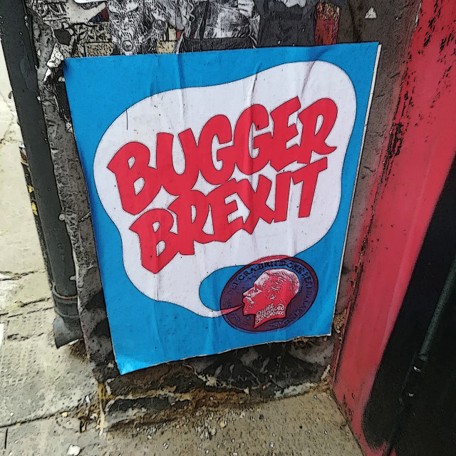 """Blah- Bugger brexit"" stock image"