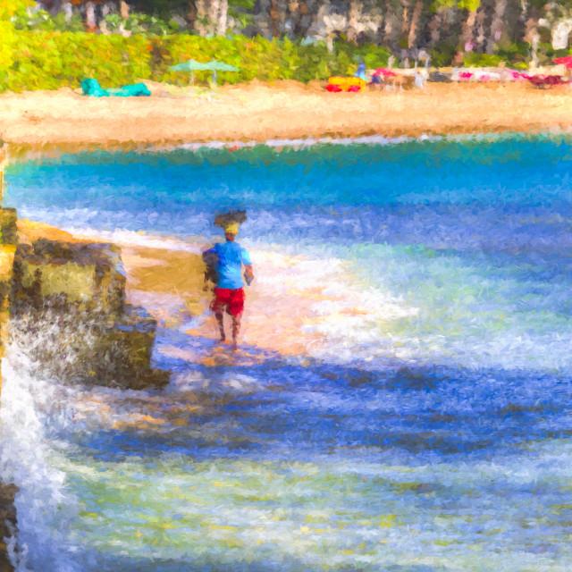 """Barbados Sea Art"" stock image"