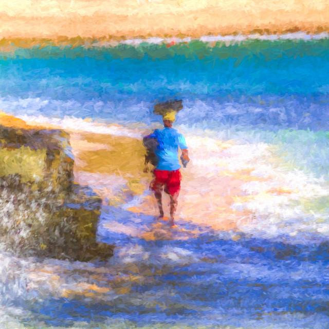 """Barbadian Sea Art"" stock image"