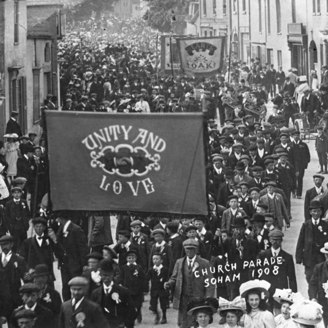 """""""Unity and Love Church Parade - Soham 1908"""" stock image"""