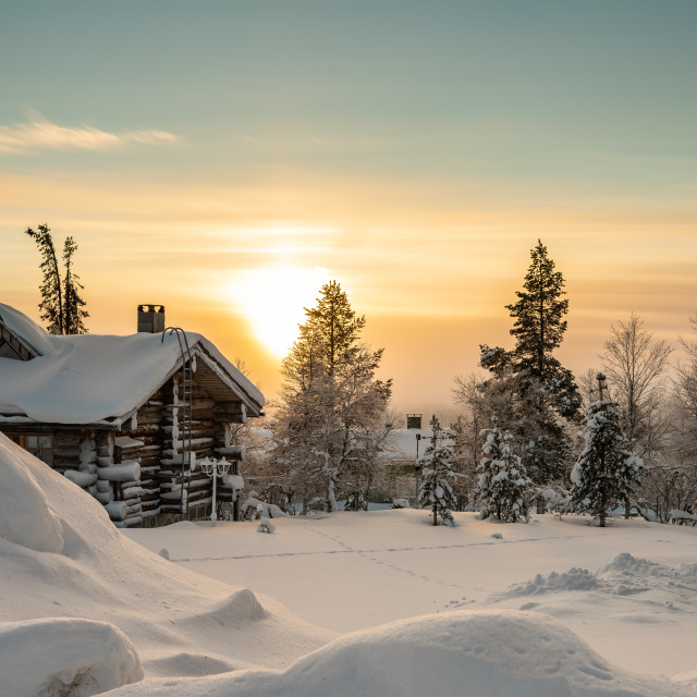 """Finnish winter scene"" stock image"