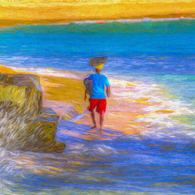 """Barbadian Beach Art"" stock image"