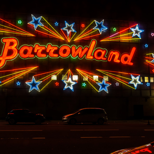 """Barrowland Ballroom Sign"" stock image"