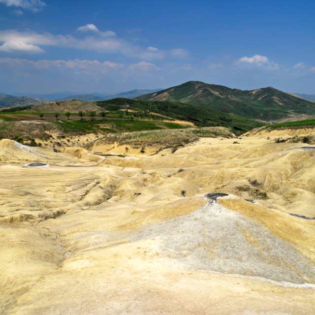"""""""Mud volcanoes reservation in Romania,"""" stock image"""