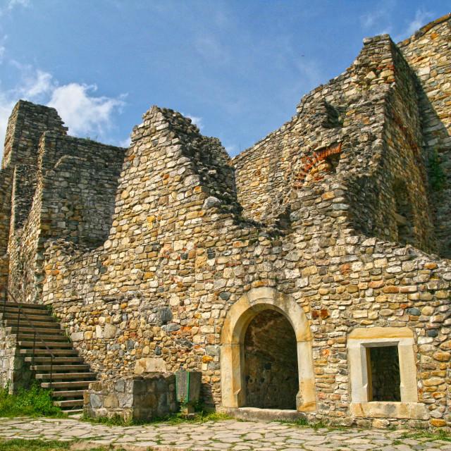 """Ancient stone walls"" stock image"