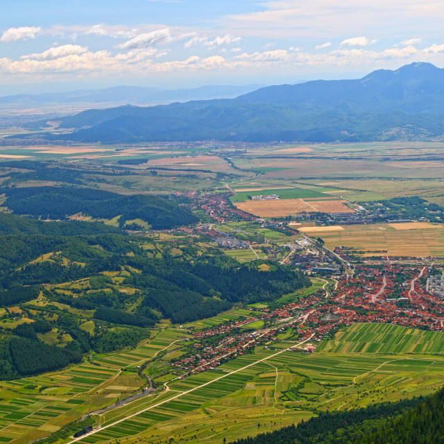 """""""City and mountain top view"""" stock image"""