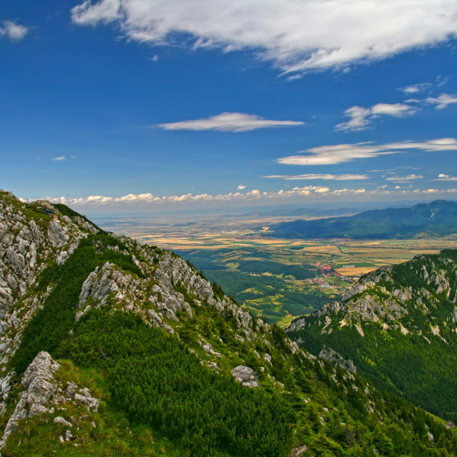 """""""Summer landscape from mountain top"""" stock image"""