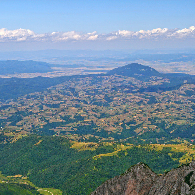 """""""Aerial view of the hills from mountain top"""" stock image"""