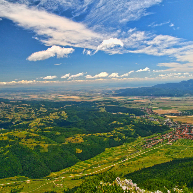 """""""Mountain top summer landscape aerial view"""" stock image"""