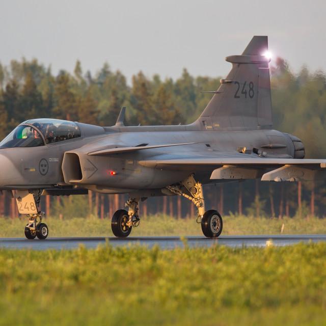 """""""Jas Gripen 39C Swedish Airforce"""" stock image"""